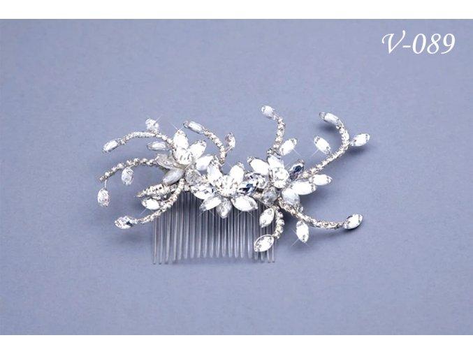 Štrasový svatební hřeben do vlasů V-142