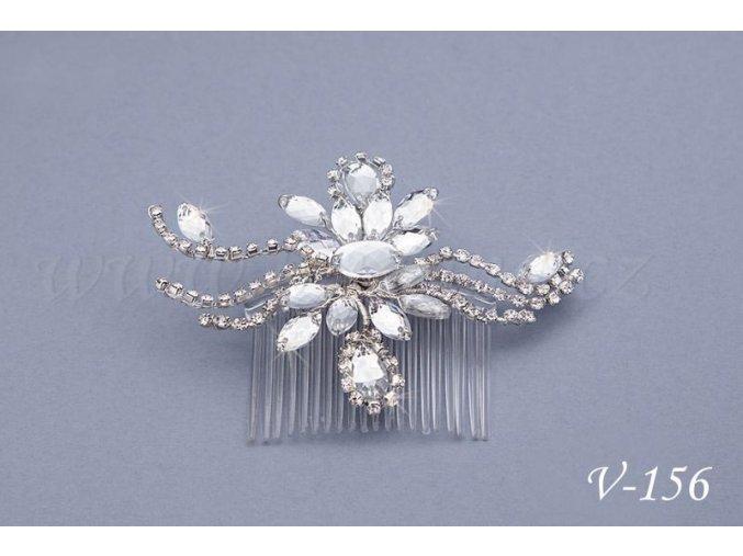 Svatební štrasový hřeben do vlasů V-156