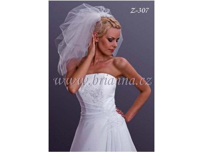 Svatební tylový závoj Z-307, ivory  SLEVA