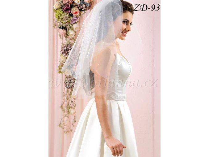 Svatební závoj s 30 perlami ZD-93 - ivory
