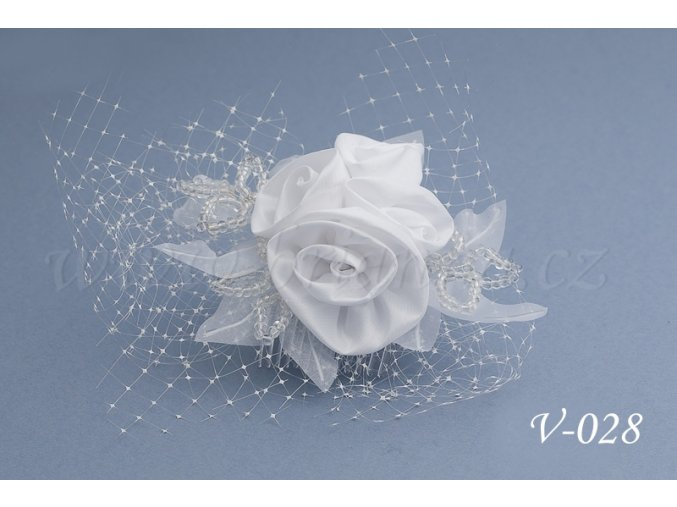 Svatební ozdoba do vlasů se síťkou V-028