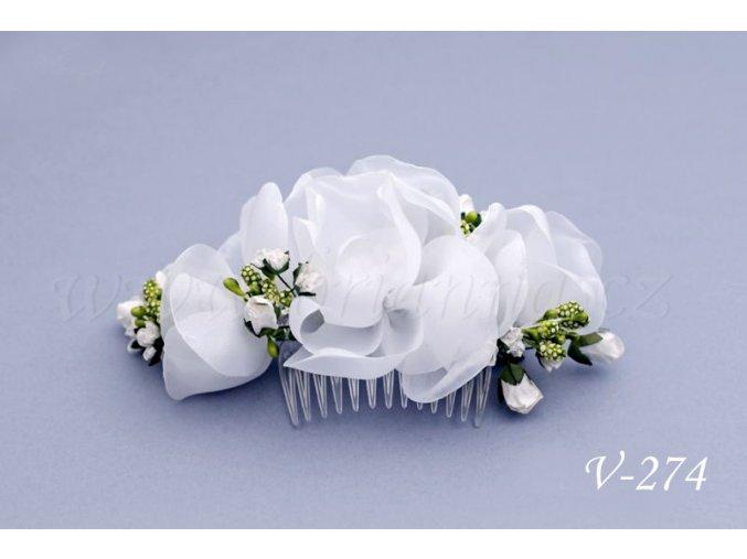 Svatební květinový hřeben do vlasů V-274