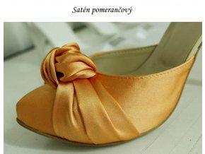 SATÉN - žluté a oranžové odstíny