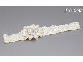 Svatební podvazek s květinou a krystaly PD-060