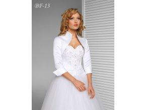 Saténové svatební bolerko s ohrnutými rukávy - ivory: BF-13