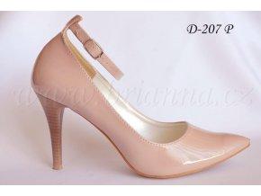 Lakované svatební boty - pudrově růžové