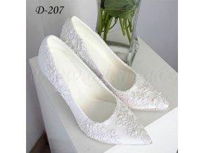 Krajkové svatební boty - bílé
