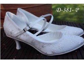 Krajkové svatební střevíčky - bílé