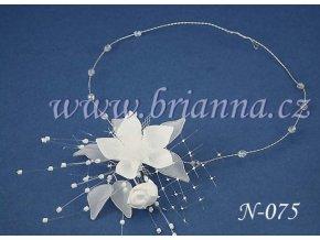 Svatební náhrdelník s květinou N-075  SLEVA