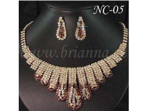 Svatební sada náhrdelníku a náušnic NC-05  SLEVA