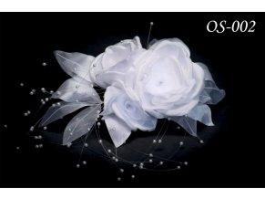 Květinová ozdoba na svatební šaty OS-005