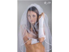 Svatební rukavice s krajkou R-19