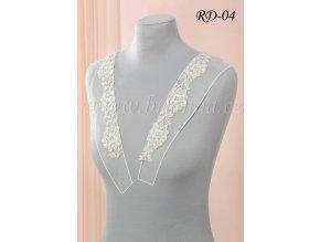 Ozdobná ramínka na svatební šaty RD-04