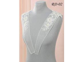 Ozdobná krajková ramínka na svatební šaty RD-02