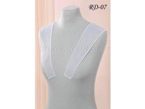 Ozdobná ramínka na svatební šaty zdobená perličkami RD-07