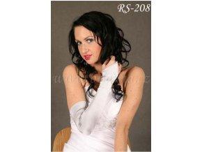 Svatební rukavice nad loket - stříbrné, RS-208