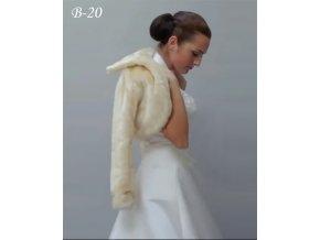 Svatební kožíšek - šampaň: B-20