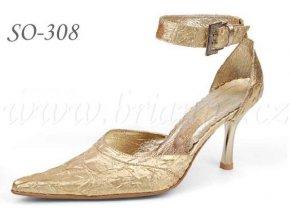 Svatební boty - zlaté, sleva