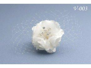 Svatební hřeben do vlasů, růže V-063