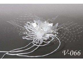 Svatební květina do vlasů V-066 bílá, SLEVA