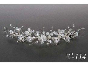 Svatební ozdoba do vlasů - drobné čiré květy V-114