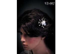 Svatební vlásenka růžička VS-002