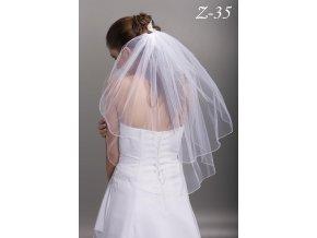 Dvouvrstvý svatební závoj Z-35