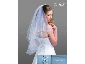 Svatební závoj s 900 krystaly Z-508