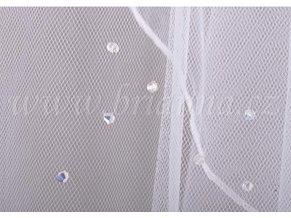 Dlouhý svatební závoj s 210 opály Swarovski Z-53