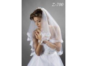 Svatební závoj lemovaný krajkou Z-700