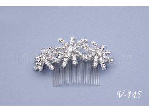 Svatební štrasový hřeben do vlasů V-145