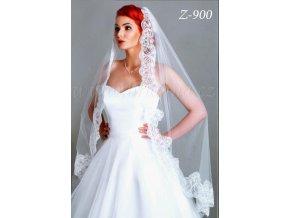Krajkový svatební závoj Z-900