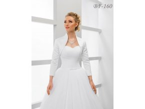 Saténové svatební bolerko s 3/4 rukávem bílé: BF-160
