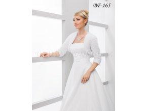 Velurové svatební bolerko s 3/4 rukávem - ivory: BF-165
