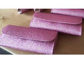 Růžová třpytivá kabelka