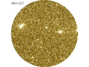 Zlatá třpytivá látka
