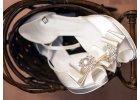 Ivory a ecru (krémové) svadobné topánky