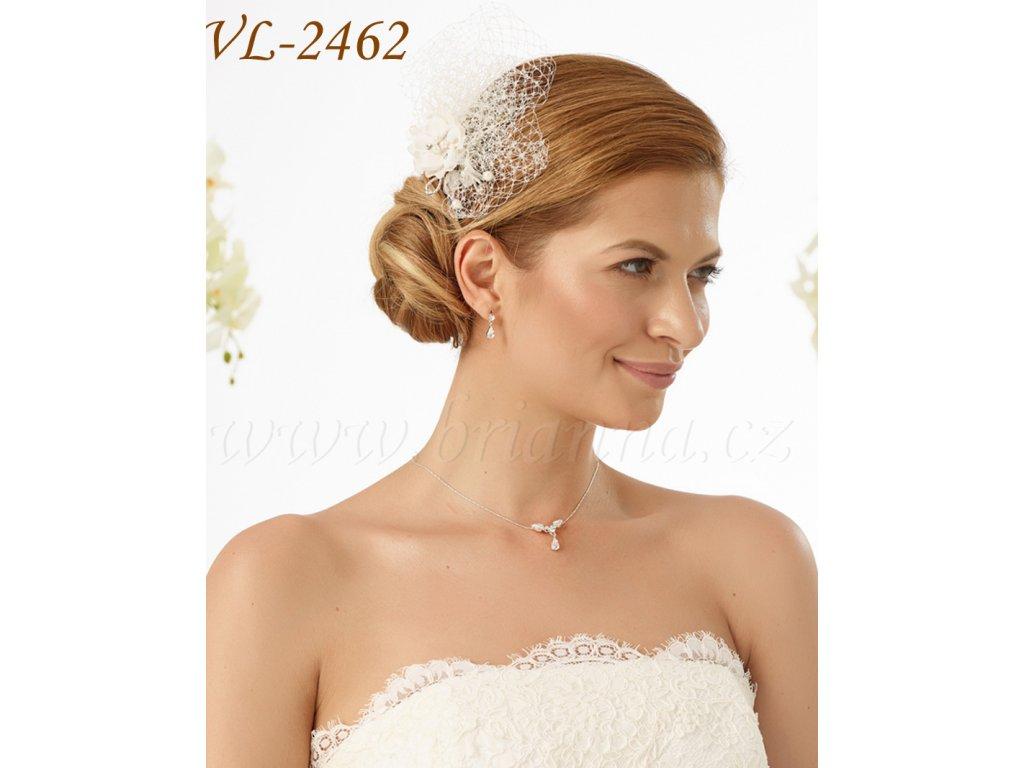 eeaf1be88 Kvetinová svadobná ozdoba do vlasov so sieťkou: VL-2462