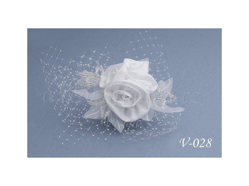 87a5da5cb Svatební ozdoba do vlasů se síťkou V-028 (Barva bílá)