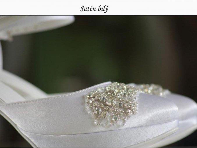 Materiál SATÉN - odstíny bílé a ivory (Barva ivory)