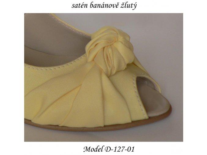 Materiál SATÉN - žluté a oranžové odstíny (Barva banánově žlutá)