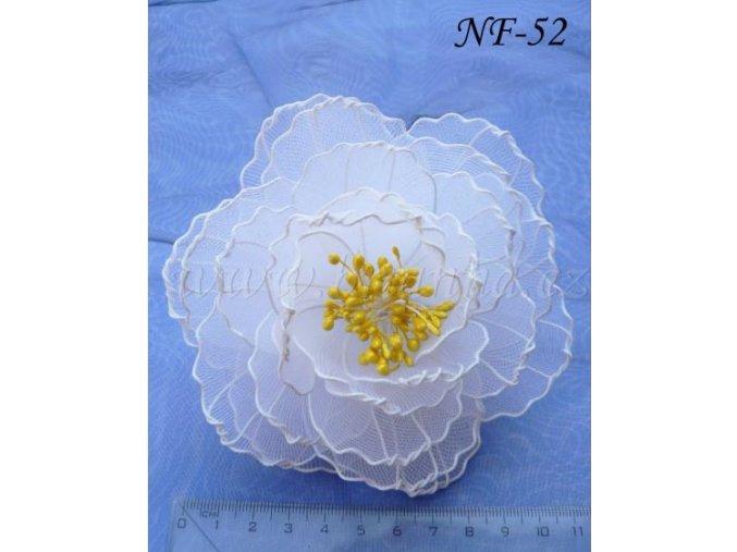 3076 nylonova svatebni ozdoba do vlasu bilozluta nf 52