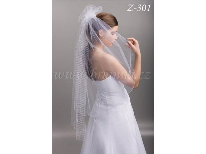 4561 nylonovy svatebni zavoj z 301 ivory sleva
