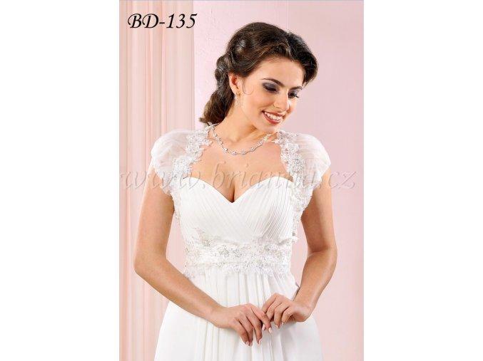 889 romanticke svatebni bolerko zdobene krajkou bile bd 135 sleva