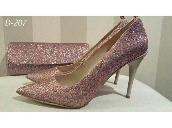 Svatební boty - měňavě růžové (Velikost obuvi 42)