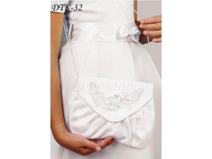 Dětská svatební kabelka s aplikací DTK-32 (Barva bílá)