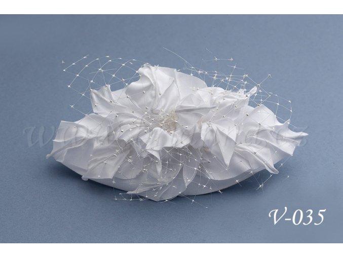 Svatební ozdoba do vlasů  V-035 (Barva bílá)