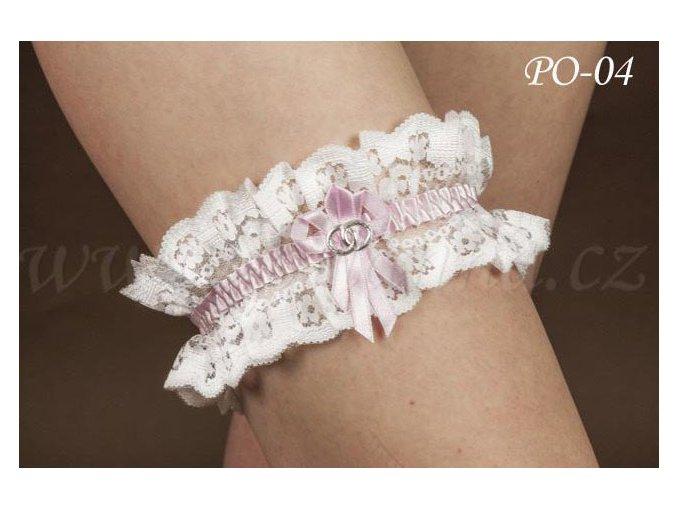 Svatební podvazek PO-04 (Barva bílá)