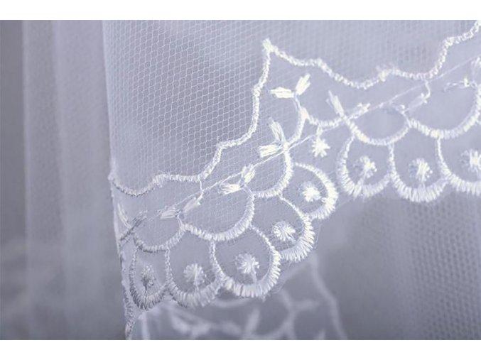 Svatební závoj s francouzskou krajkou Z-56 (Barva bílá)