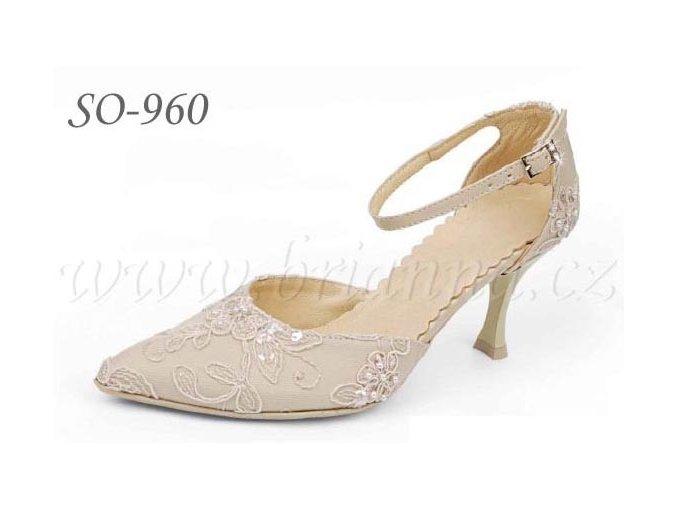 3835 vysivane svatebni boty cappuccino sleva